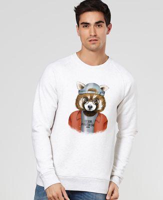 Sweatshirt homme Cool panda roux
