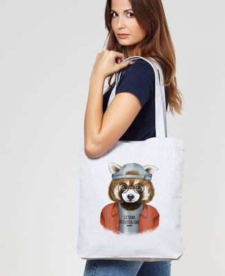 Tote bag Cool panda roux