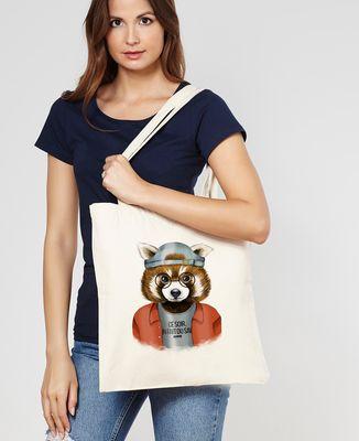 Tote bag Cool panda roux