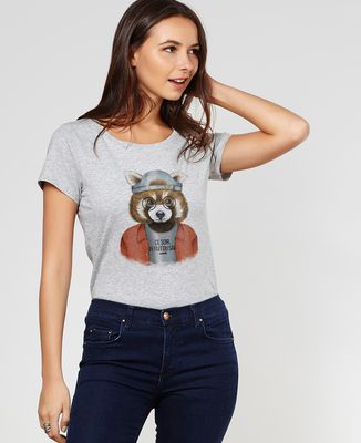 T-Shirt femme Cool panda roux