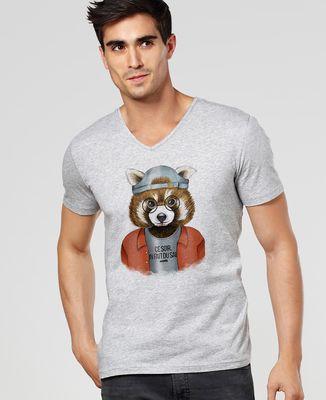 T-Shirt homme Cool panda roux