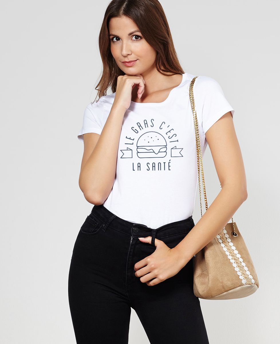 T-Shirt femme Le gras c'est la santé