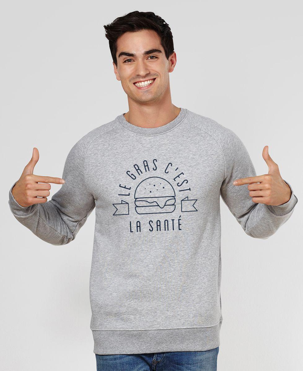 Sweatshirt homme Le gras c'est la santé