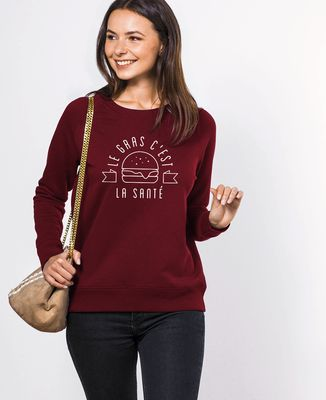 Sweatshirt femme Le gras c'est la santé
