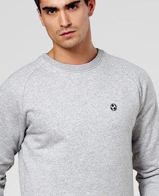 Sweatshirt homme Ballon de foot (brodé)