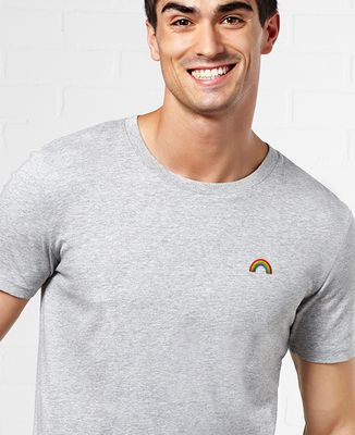 T-Shirt homme Arc en ciel (brodé)