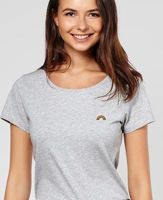 T-Shirt femme Arc en ciel (brodé)