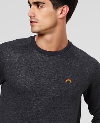 Sweatshirt homme Arc en ciel (brodé)