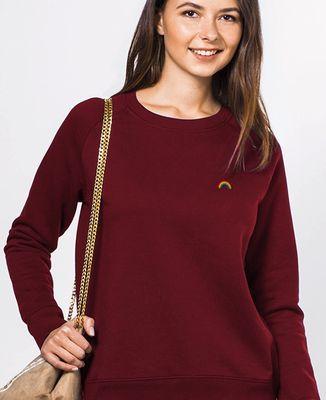 Sweatshirt femme Arc en ciel (brodé)
