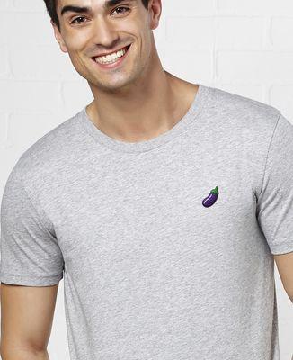 T-Shirt homme Aubergine (brodé)