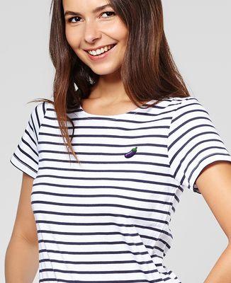T-Shirt femme Aubergine (brodé)