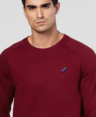 Sweatshirt homme Aubergine (brodé)