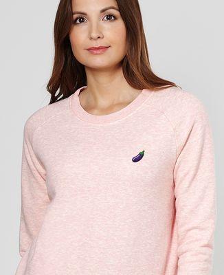 Sweatshirt femme Aubergine (brodé)