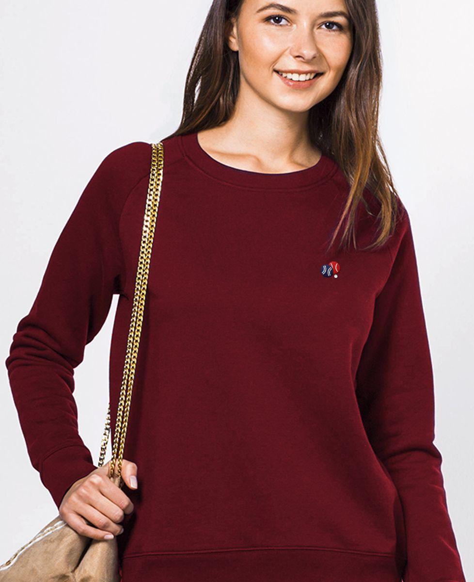 Sweatshirt femme Pétanque (brodé)