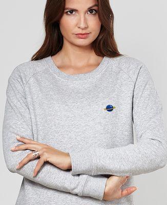 Sweatshirt femme Planète (brodé)