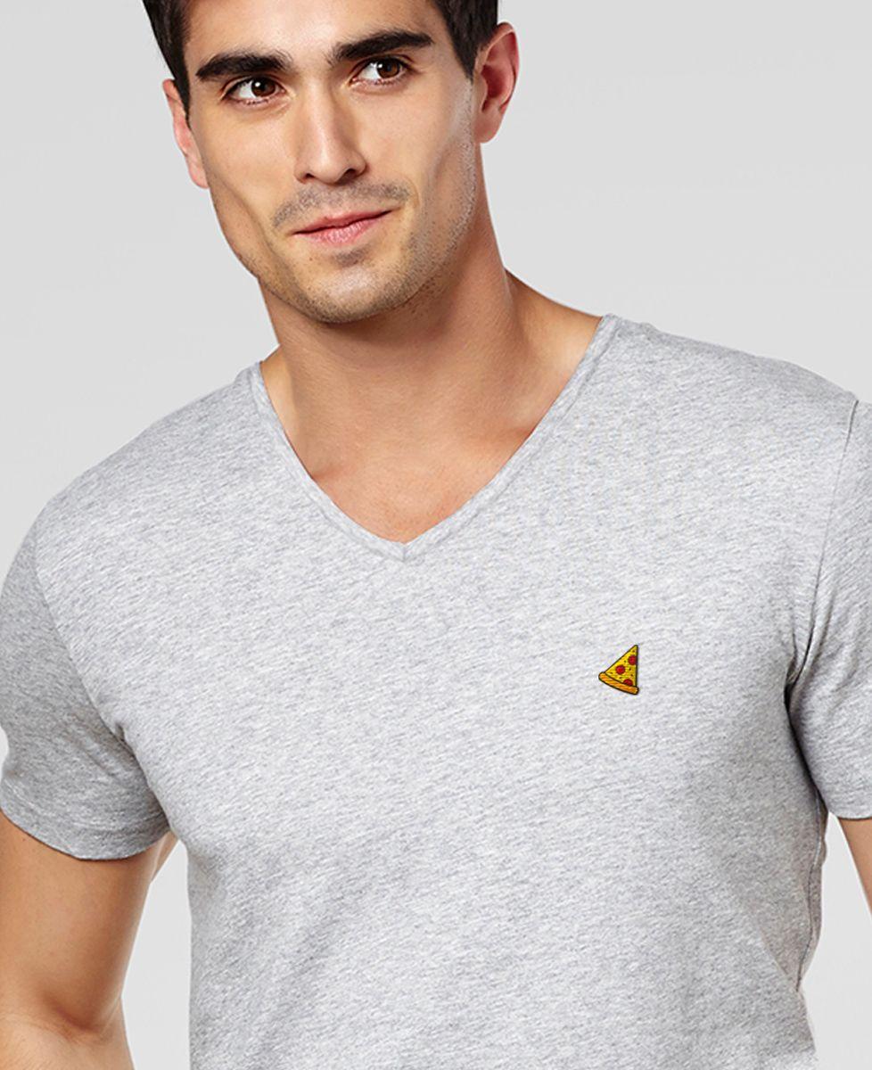 T-Shirt homme Pizza (brodé)