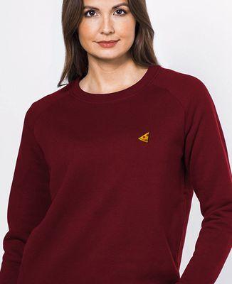 Sweatshirt femme Pizza (brodé)