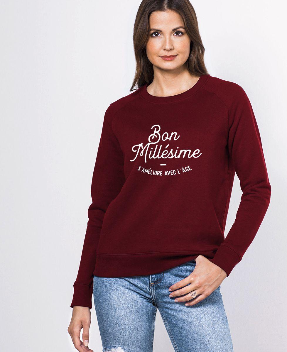 Sweatshirt femme Bon millésime