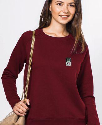 Sweatshirt femme Game over (Ecusson)