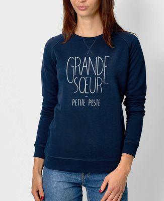 Sweatshirt femme Grande soeur, petite peste