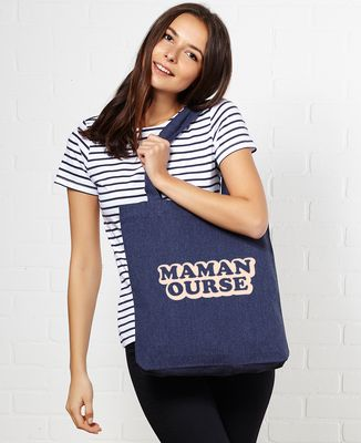Tote bag Maman ours