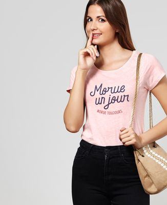 T-Shirt femme Morue un jour