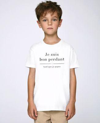 T-Shirt enfant Je suis bon perdant