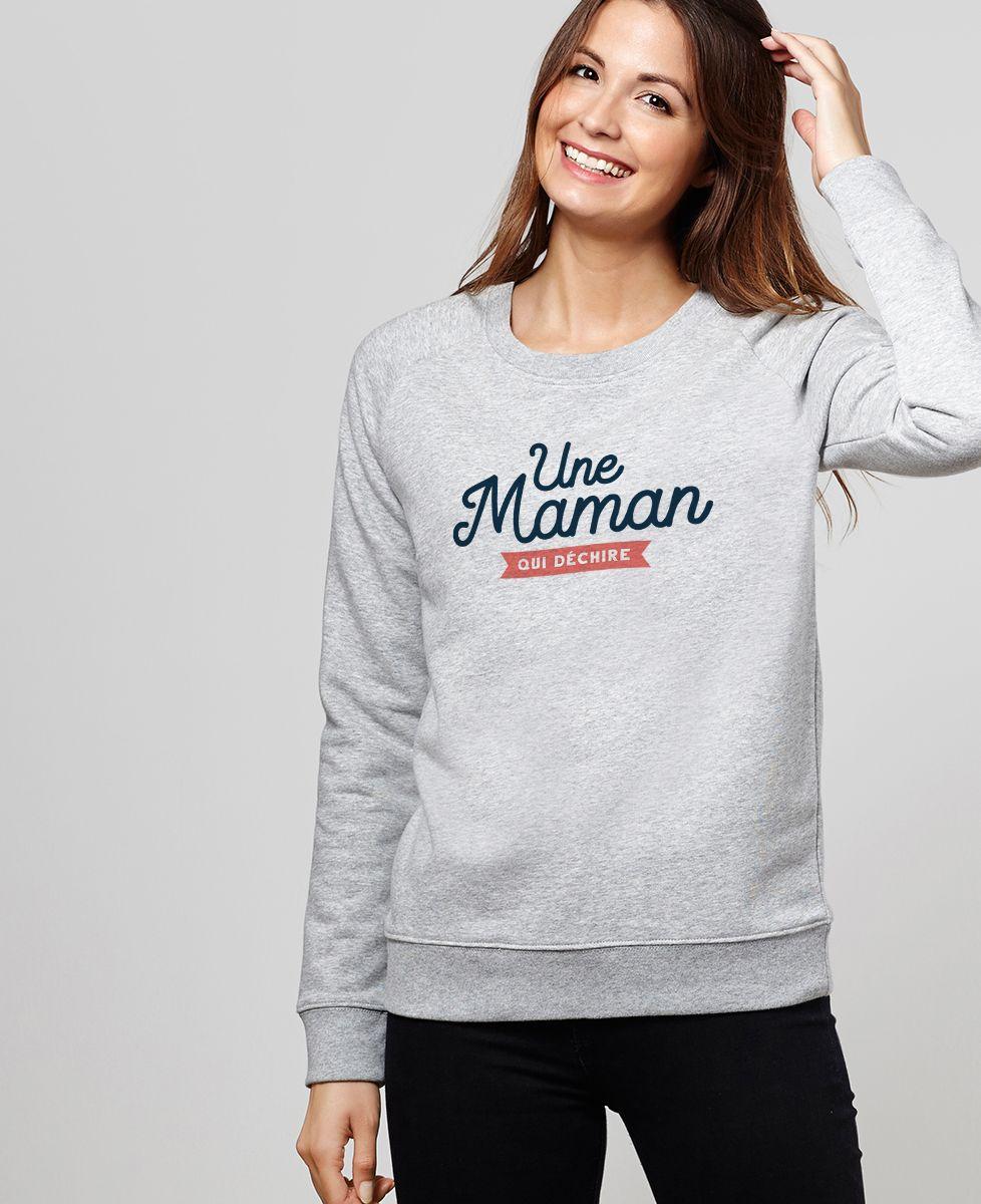 Sweatshirt femme Maman qui déchire