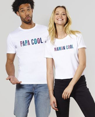 T-Shirt homme Papa - Maman - Bébé cool