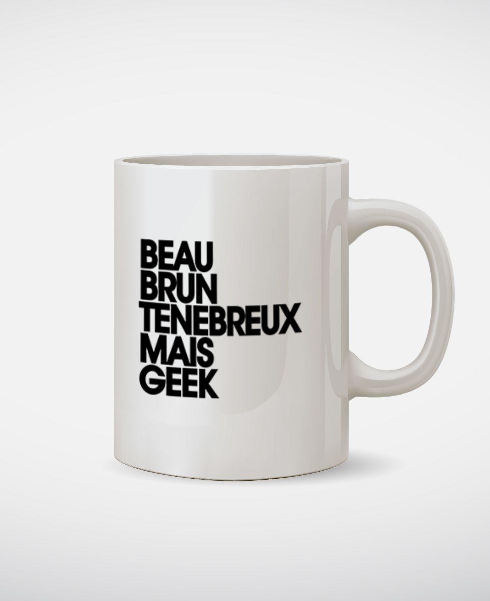 Mug Beau brun ténébreux