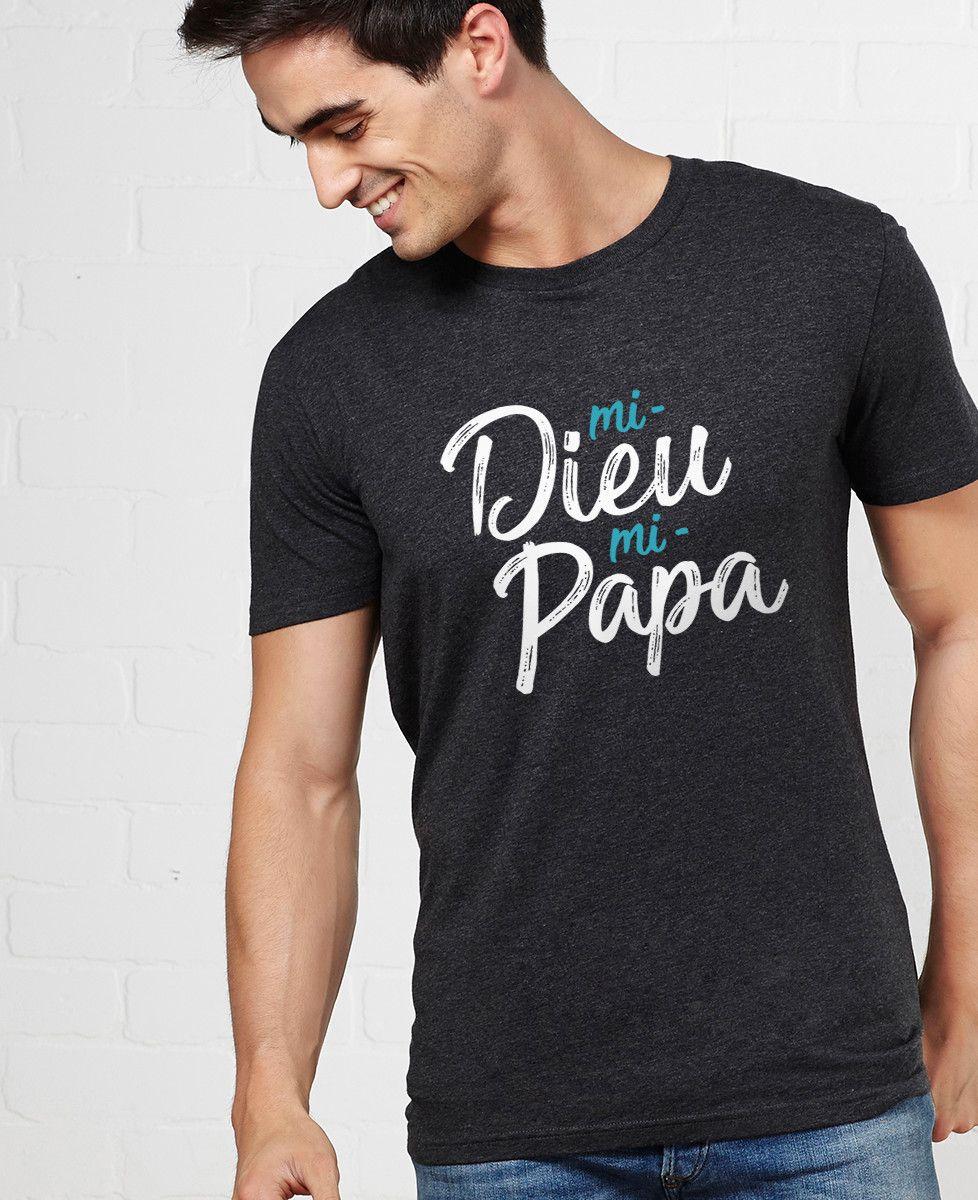 T-Shirt homme Mi-Dieu Mi-Papa