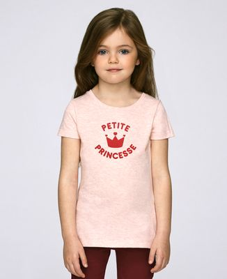 T-Shirt enfant Petite princesse (effet velours)