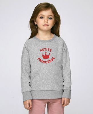Sweatshirt enfant Petite princesse (effet velours)