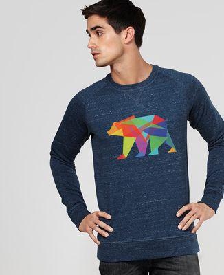 Sweatshirt homme Fractal geo bear