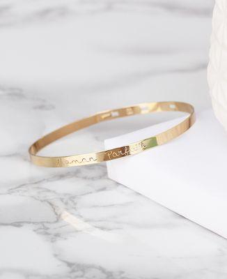 Bracelet Jonc Maman parfaite (plaqué or)