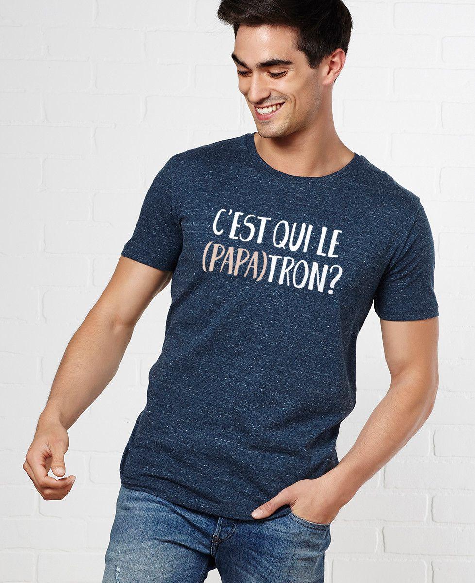 T-Shirt homme C'est qui le (PAPA)tron?