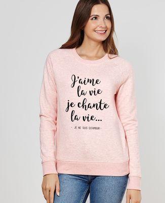Sweatshirt femme J'aime la vie