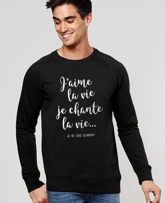 Sweatshirt homme J'aime la vie