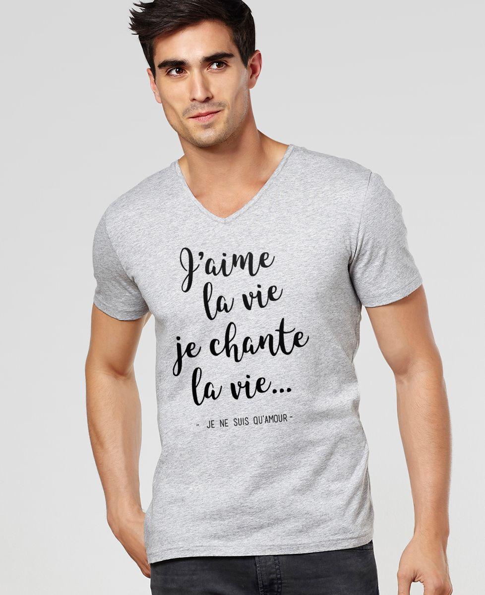 T-Shirt homme J'aime la vie