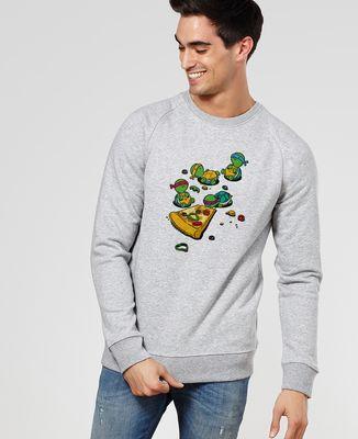 Sweatshirt homme Pizza lover