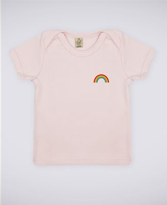 T-Shirt bébé Arc en ciel (brodé)