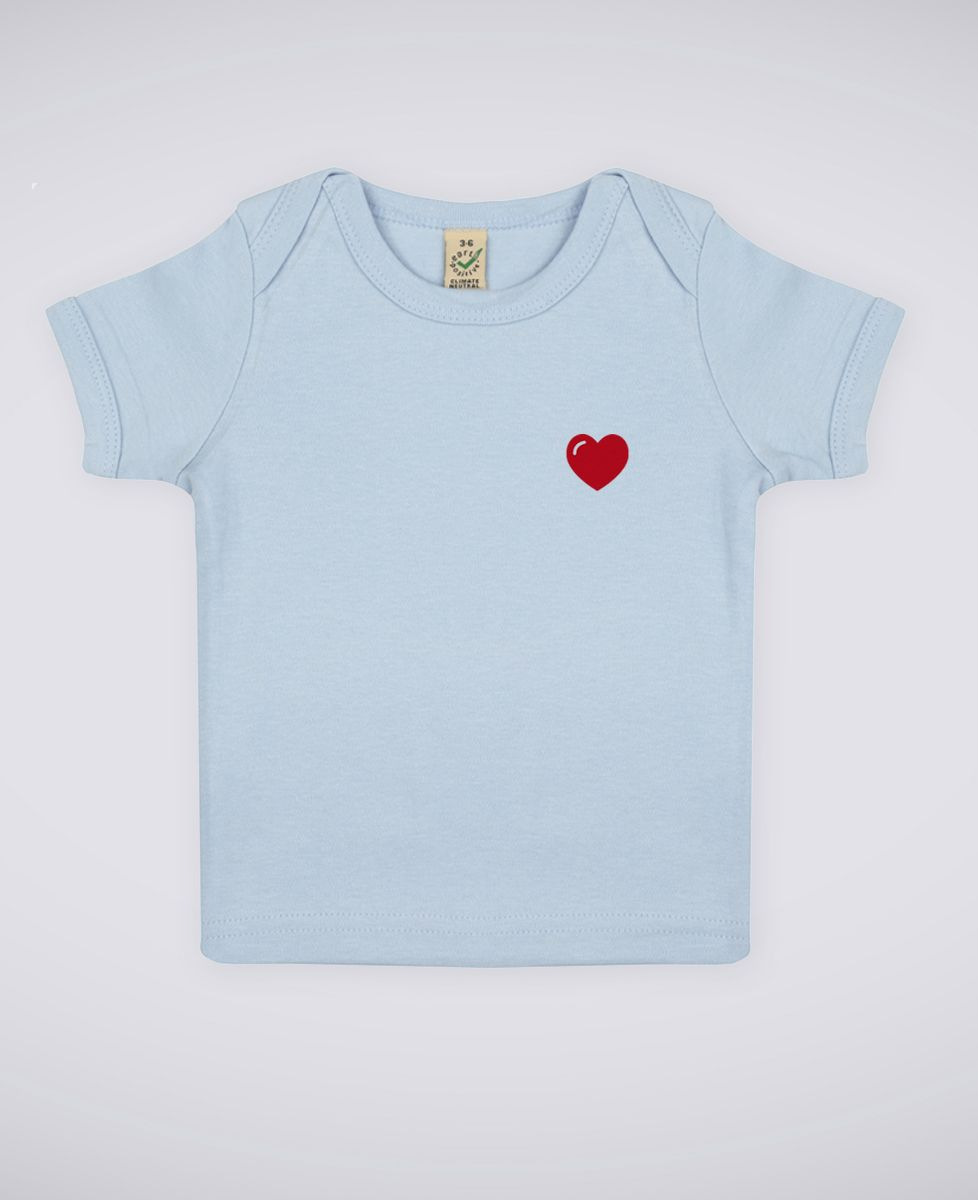 T-Shirt bébé Coeur (brodé)