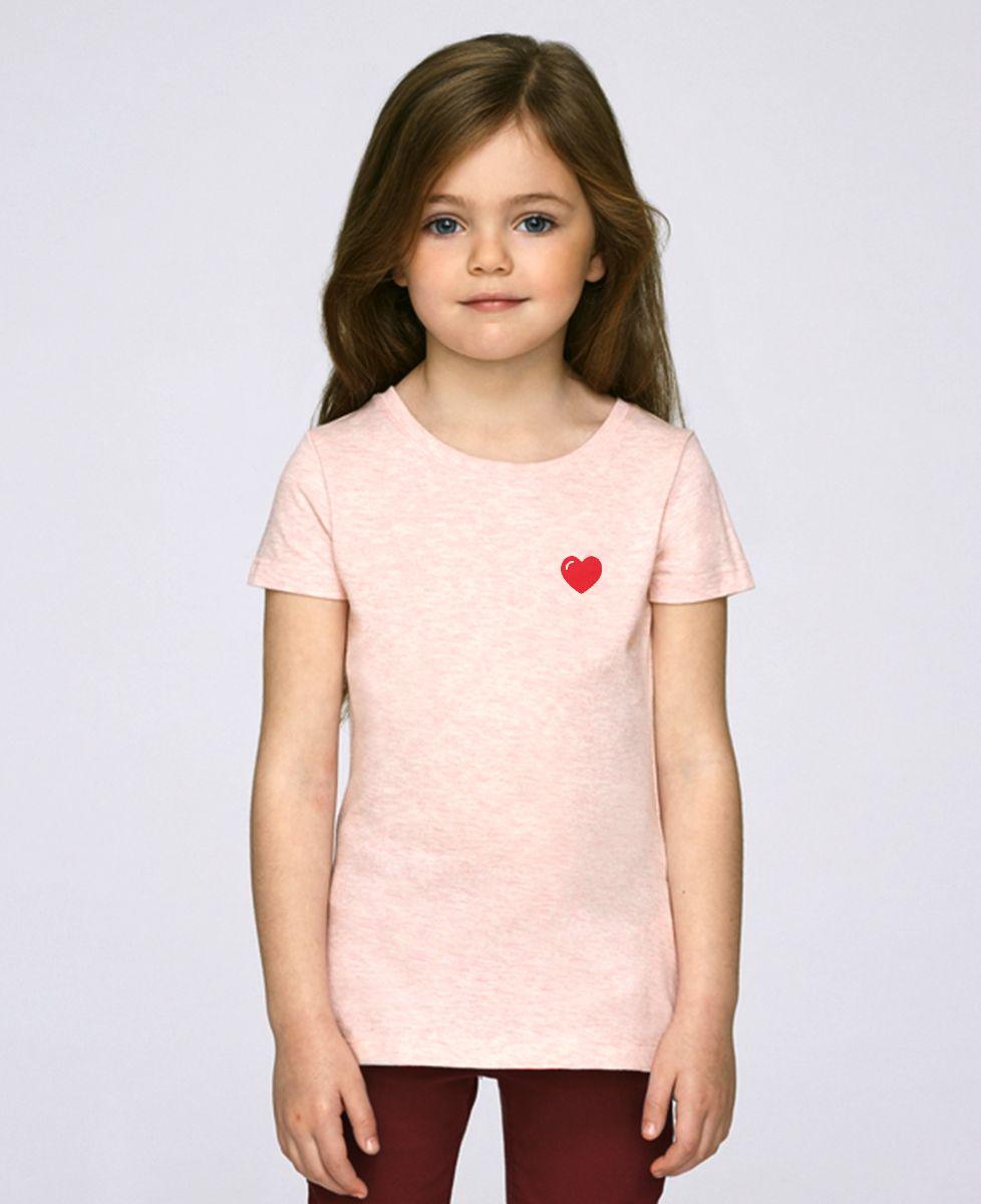 T-Shirt enfant Coeur (brodé)