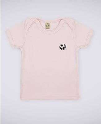 T-Shirt bébé Ballon de foot (brodé)