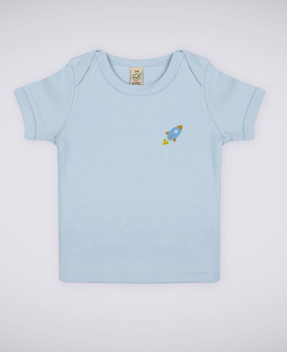 T-Shirt bébé Fusée (brodé)