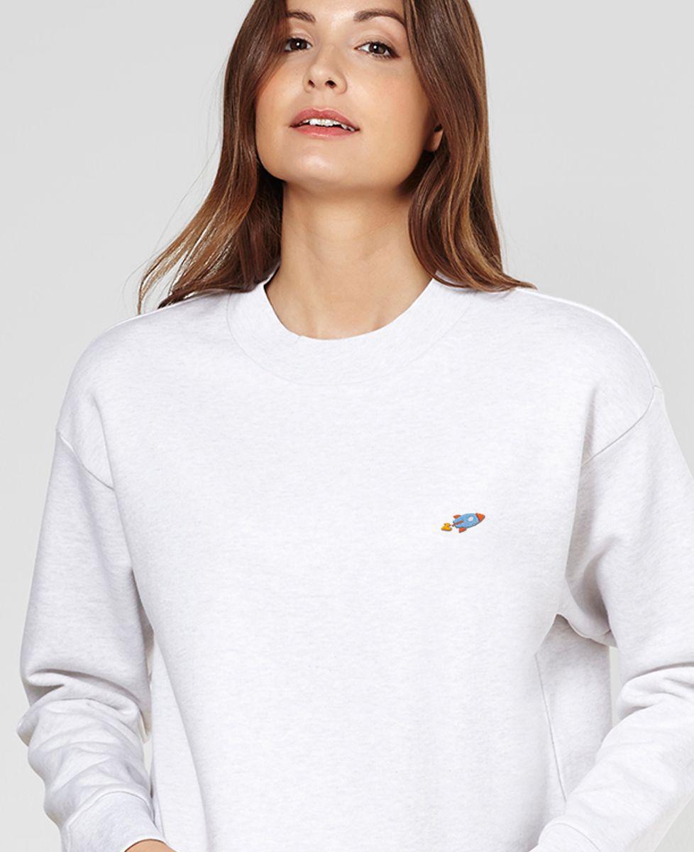 Sweatshirt femme Fusée (brodé)