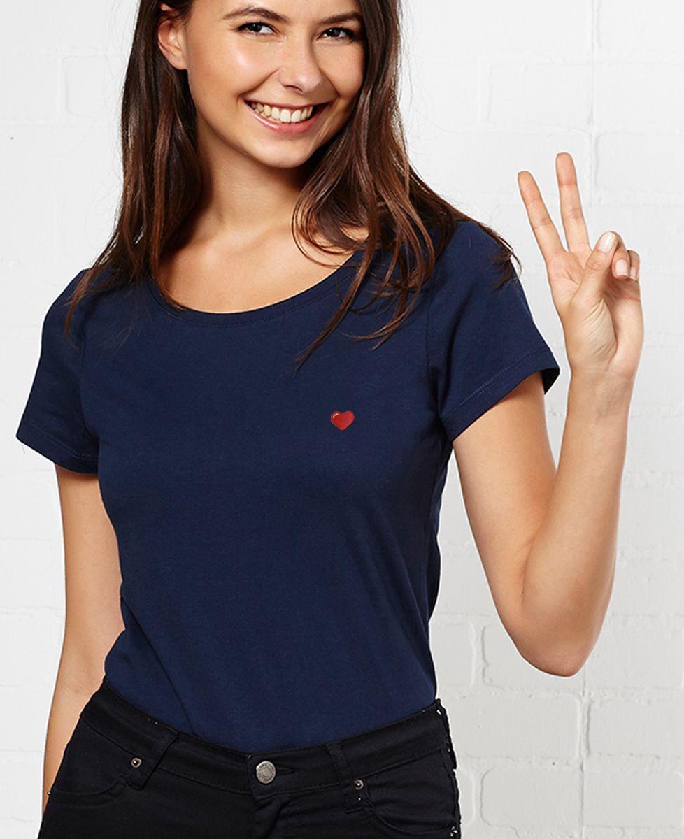 T-Shirt femme Coeur (brodé)