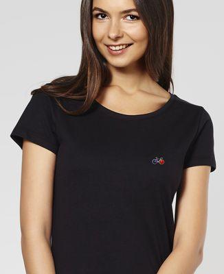 T-Shirt femme Vélo (brodé)