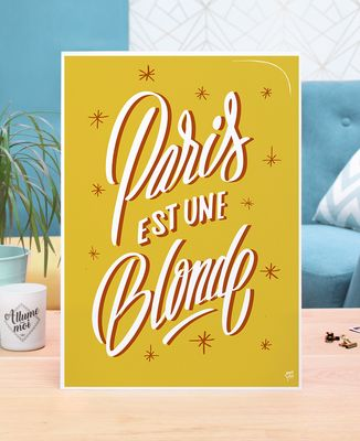 Affiche Paris blonde