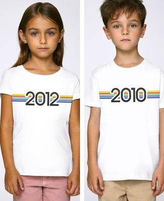 T-Shirt enfant Année de naissance personnalisé